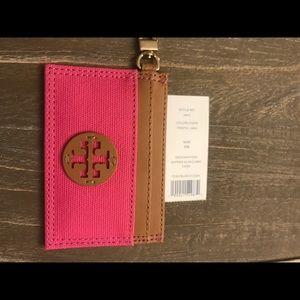 Tory Burch Slim Card Case w/ keychain NWT